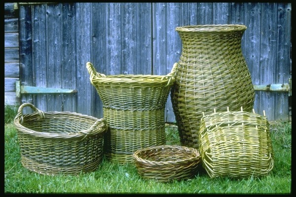 Willow baskets by Jane Wilkinson