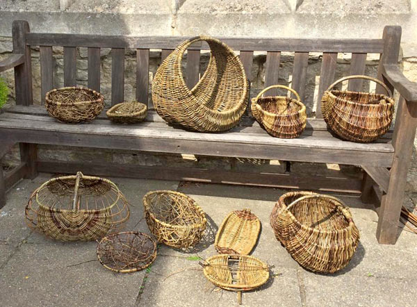 Modern willow baskets by Oxfordshire Basketmakers