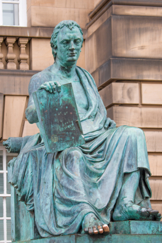 Statue of David Hume, Edinburgh, Scotland