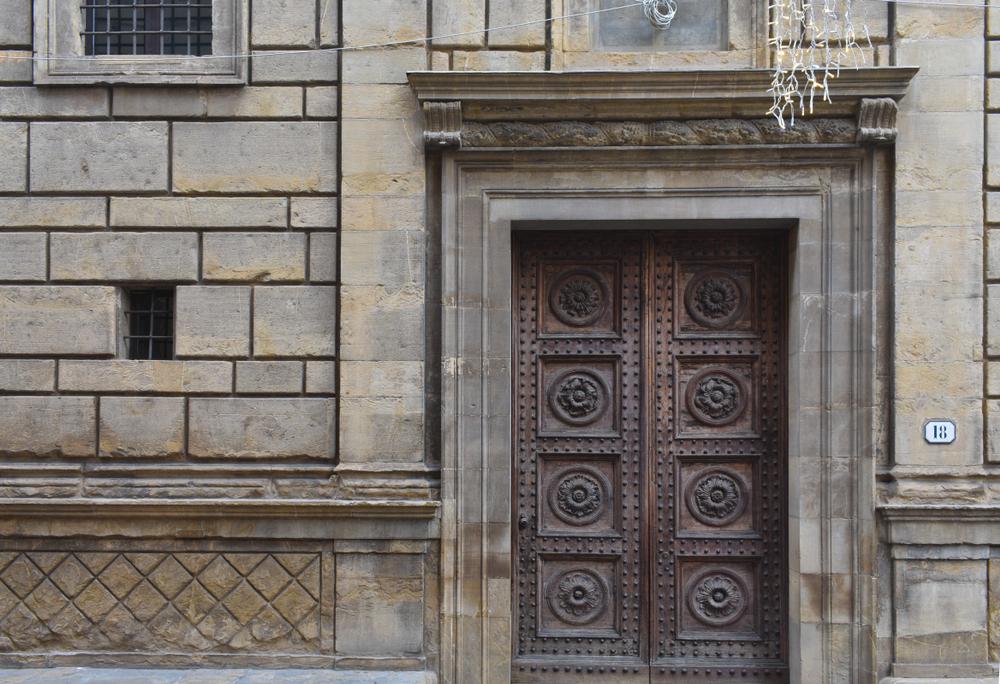 Ashlar stonework Palazzo Rucellai Florence Italy