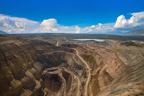 Open pit diamond mine, Sakha Yakutia