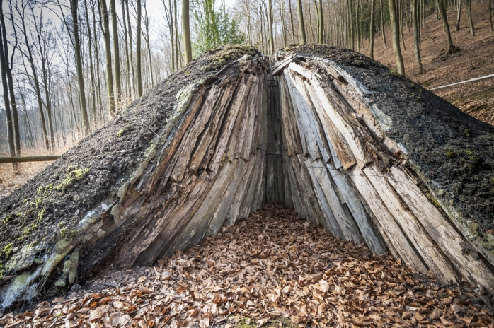 Traditional charcoal pile