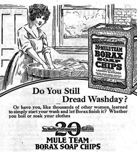 Vintage ad for 20 Mule Team Borax