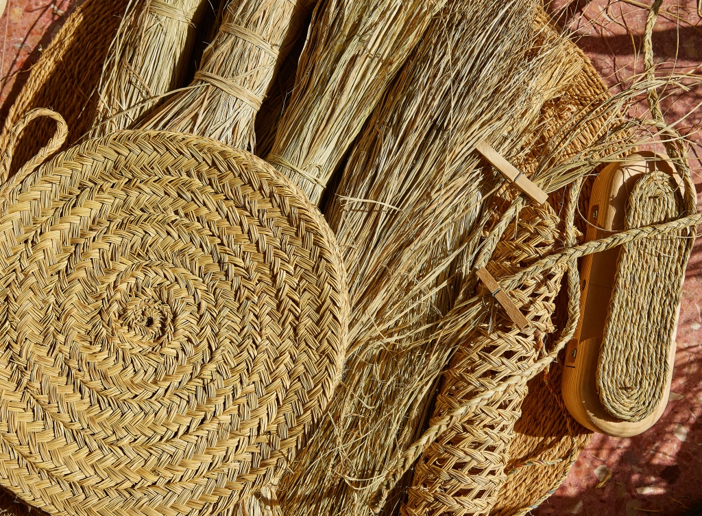 Items woven from esparto grass.