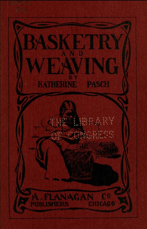 Book cover, Basketry and Weaving