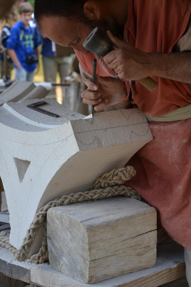 A modern stone carver.