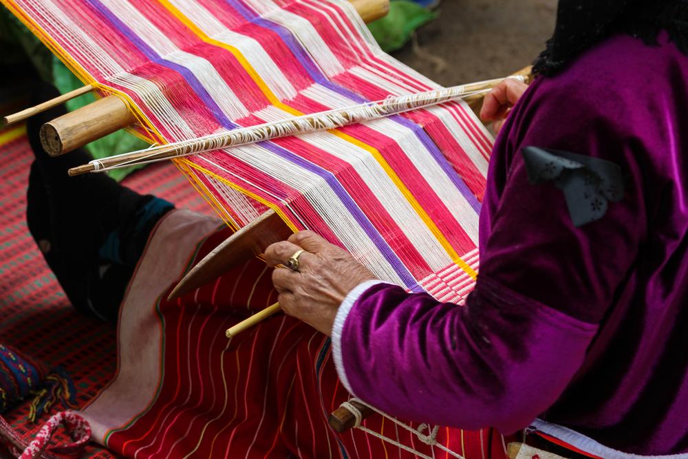 Peruvian hand weaving.